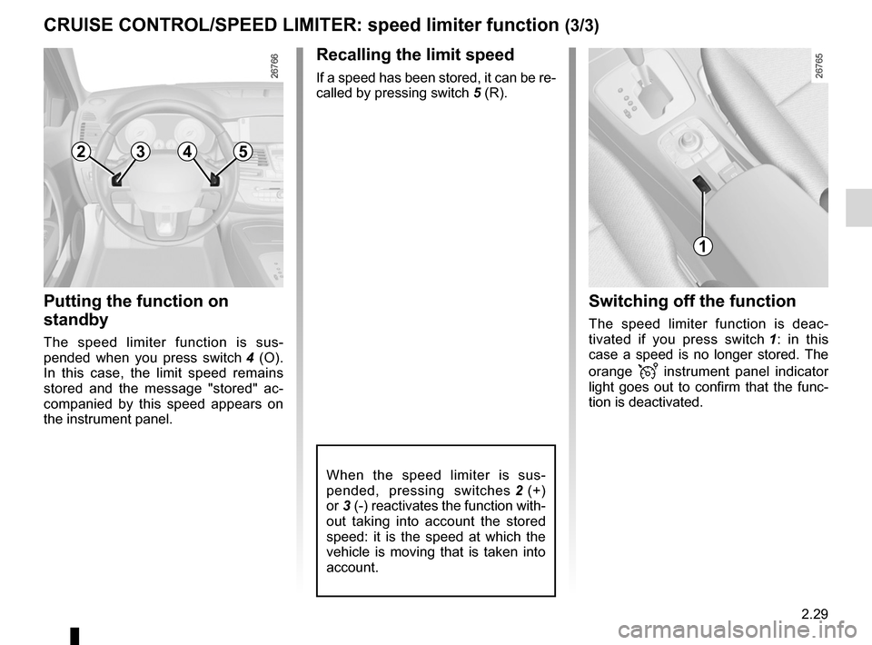 RENAULT LAGUNA COUPE 2012 X91 / 3.G Owners Manual, Page 107
