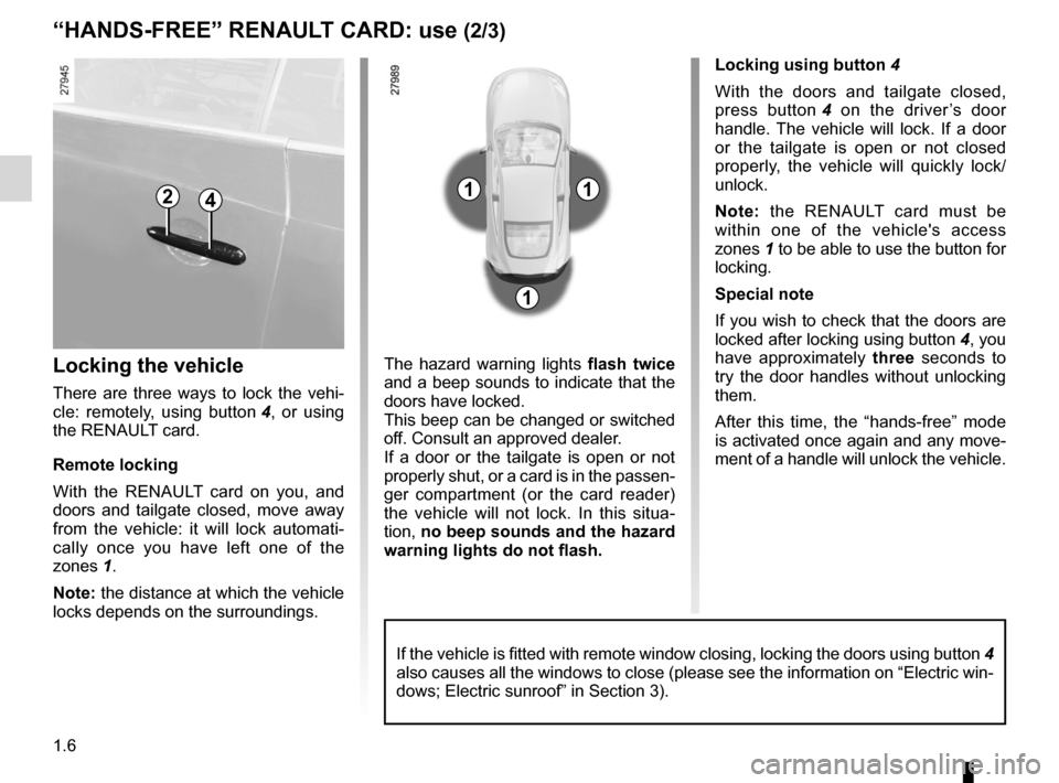 RENAULT LAGUNA COUPE 2012 X91 / 3.G User Guide child safety............................................................. (current page) children (safety)  ..................................................... (current page) 1.6 ENG_UD29085_5 Carte