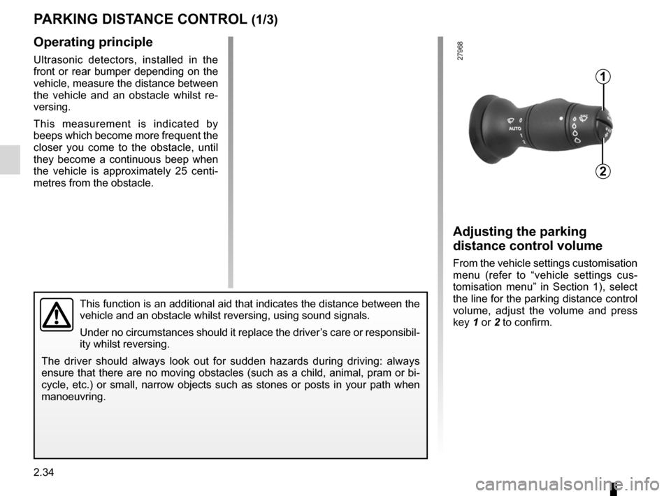 RENAULT LAGUNA COUPE 2012 X91 / 3.G Owners Manual, Page 112
