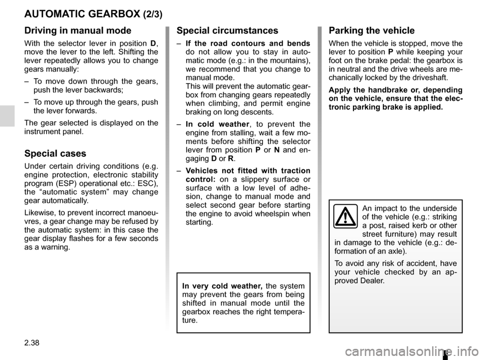 RENAULT LAGUNA COUPE 2012 X91 / 3.G Owners Manual, Page 116