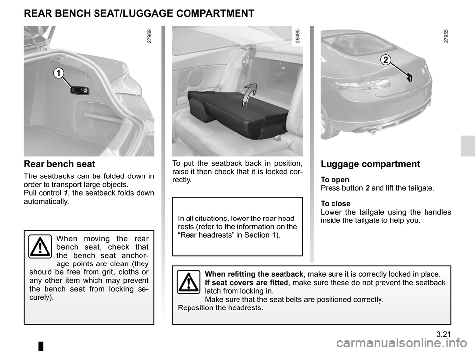 RENAULT LAGUNA COUPE 2012 X91 / 3.G Owners Manual, Page 139