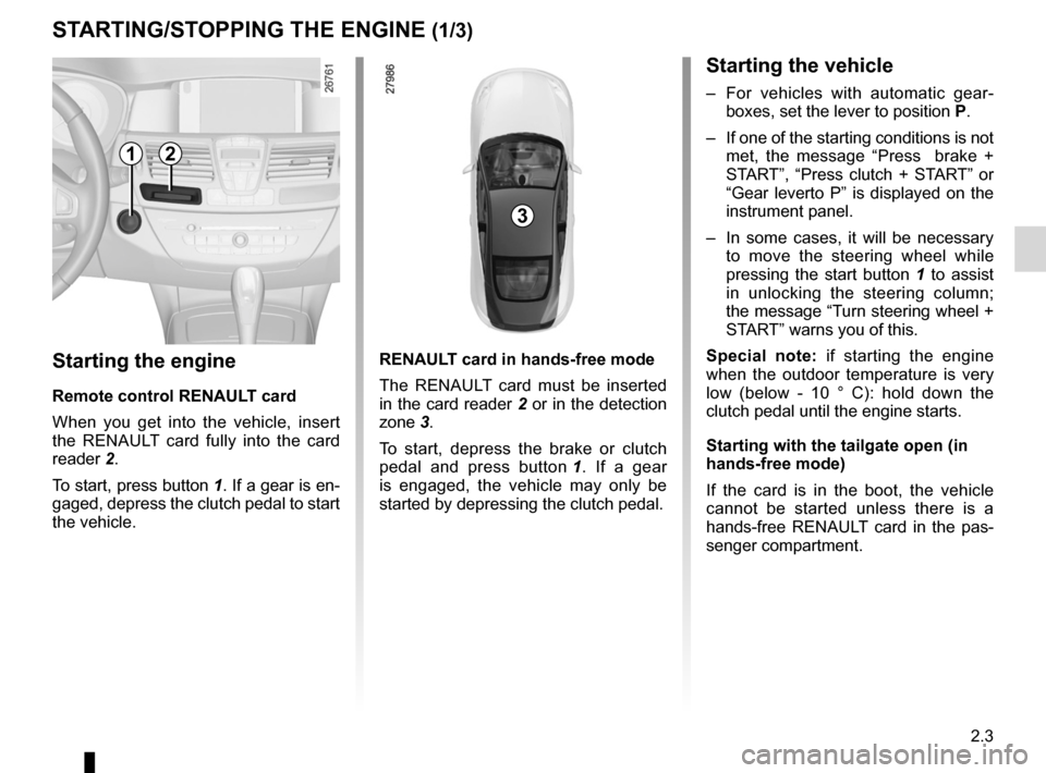 RENAULT LAGUNA COUPE 2012 X91 / 3.G Owners Manual, Page 81