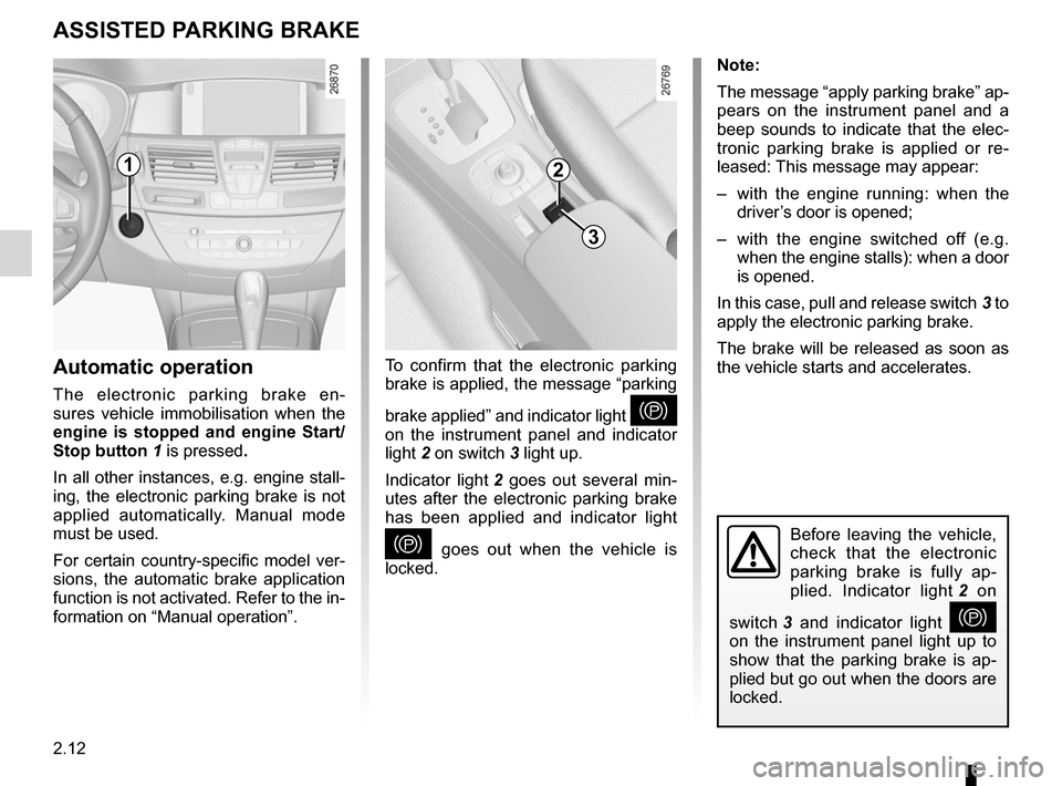 RENAULT LAGUNA COUPE 2012 X91 / 3.G Owners Manual, Page 90
