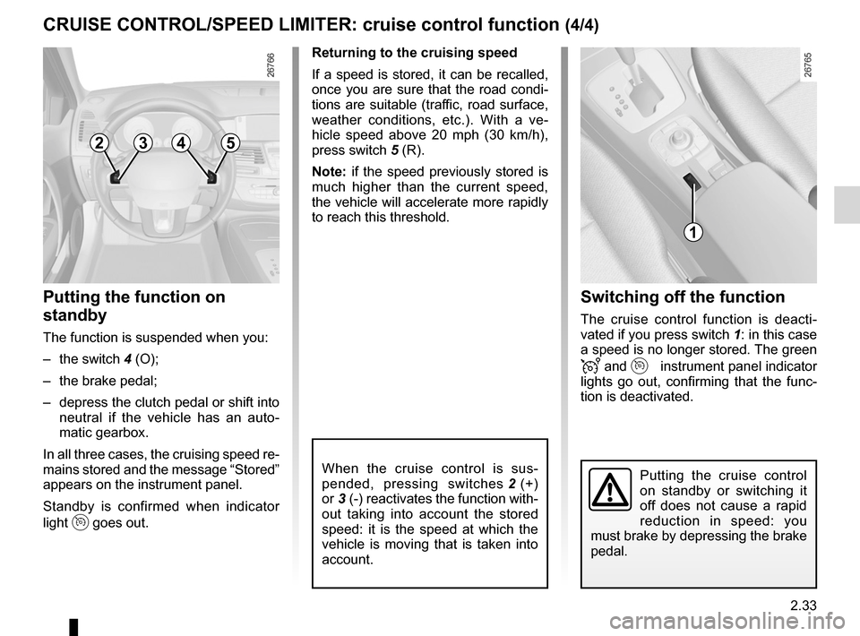 RENAULT LAGUNA 2012 X91 / 3.G Owners Manual, Page 115