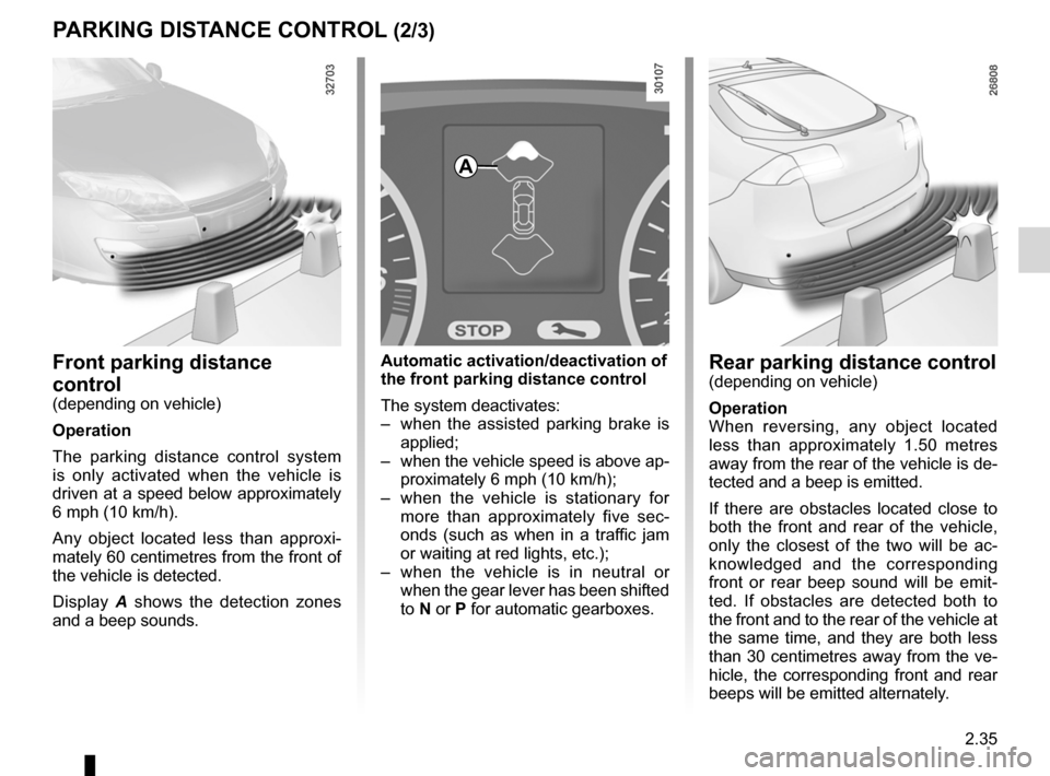 RENAULT LAGUNA 2012 X91 / 3.G Owners Manual, Page 117