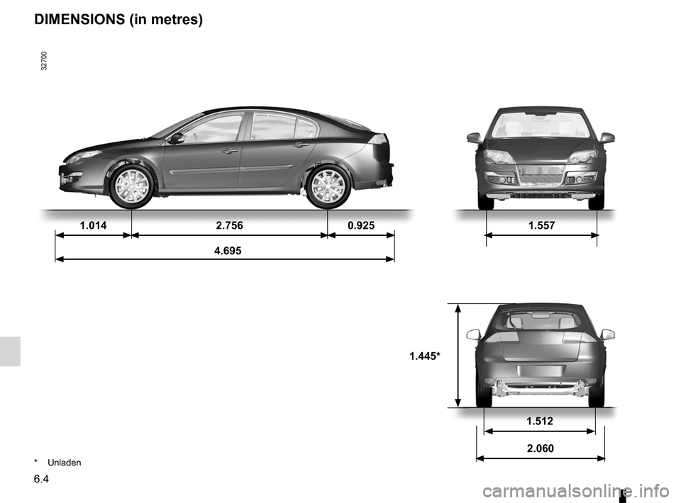RENAULT LAGUNA 2012 X91 / 3.G Owners Manual, Page 218