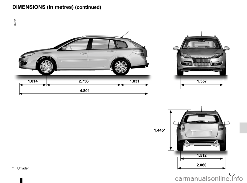 RENAULT LAGUNA 2012 X91 / 3.G Owners Manual, Page 219