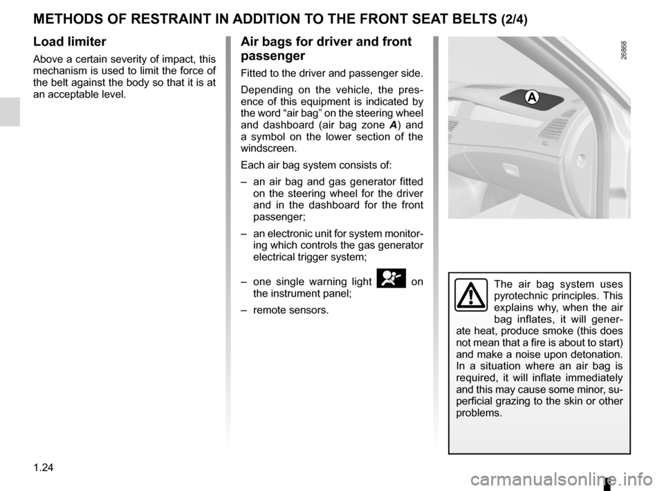 RENAULT LAGUNA 2012 X91 / 3.G Owners Manual, Page 30