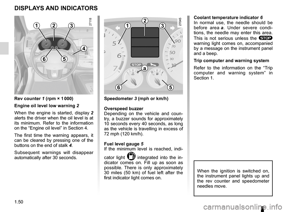 RENAULT LAGUNA 2012 X91 / 3.G Owners Manual, Page 56