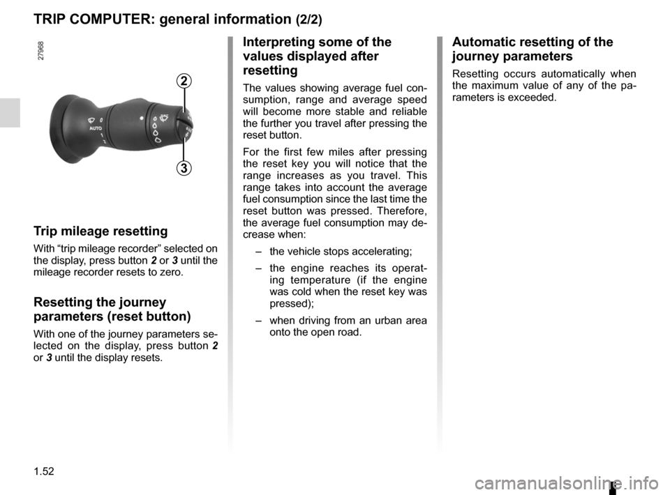 RENAULT LAGUNA 2012 X91 / 3.G Owners Manual, Page 58