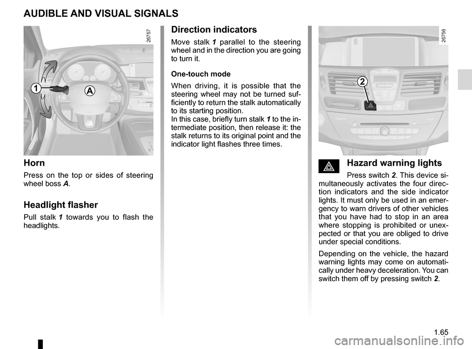 RENAULT LAGUNA 2012 X91 / 3.G Owners Manual, Page 71