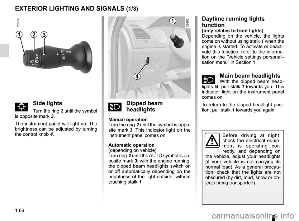 RENAULT LAGUNA 2012 X91 / 3.G Owners Manual, Page 72