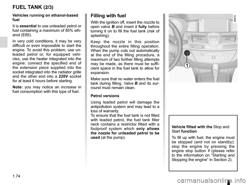 RENAULT LAGUNA 2012 X91 / 3.G Owners Manual, Page 80