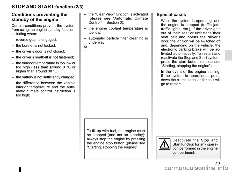 RENAULT LAGUNA 2012 X91 / 3.G Owners Manual, Page 89