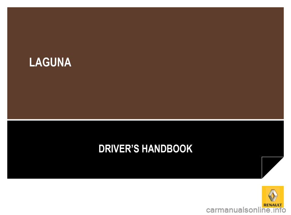 RENAULT LAGUNA TOURER 2012 X91 / 3.G Owners Manual, Page 1