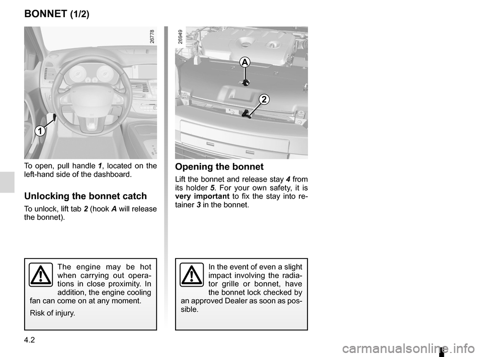 RENAULT LAGUNA TOURER 2012 X91 / 3.G Owners Manual, Page 160