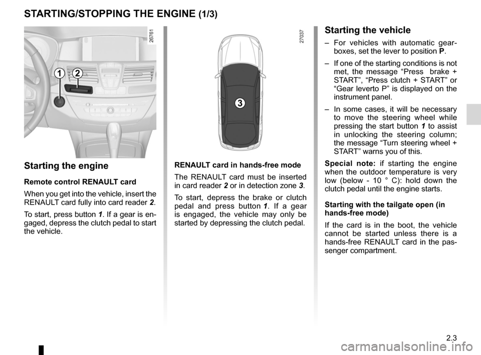 RENAULT LAGUNA TOURER 2012 X91 / 3.G Owners Manual, Page 85