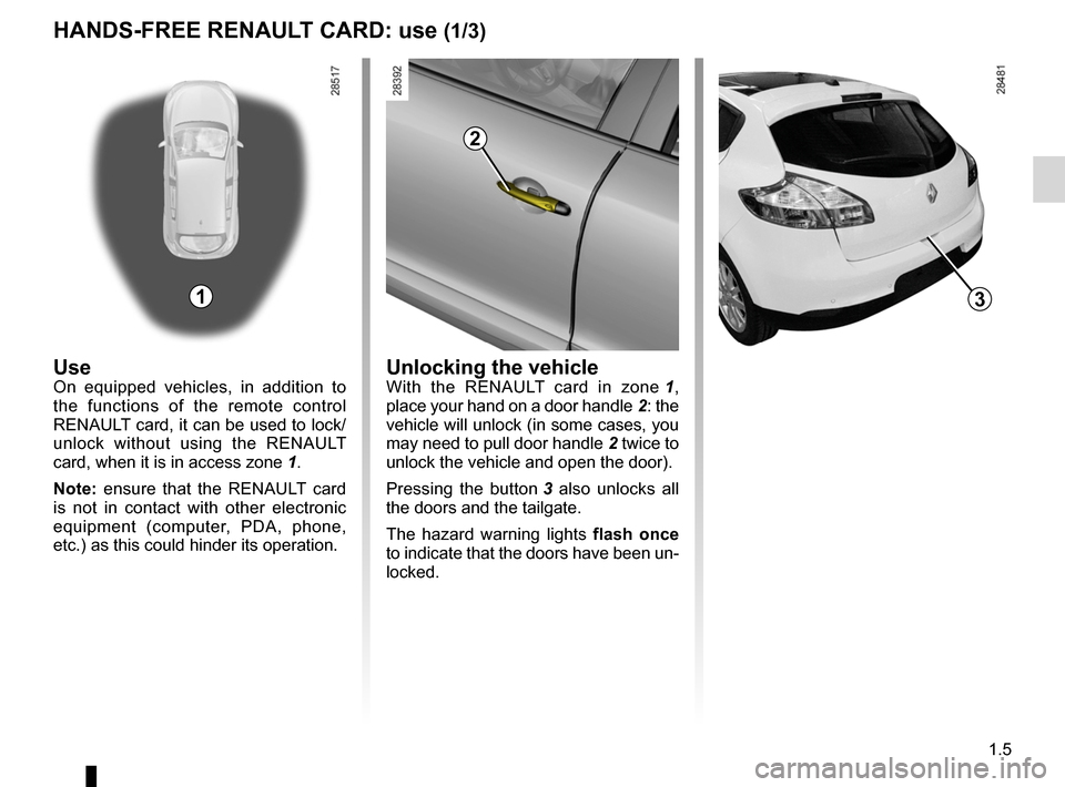 RENAULT MEGANE RS 2012 X95 / 3.G Owners Manual, Page 11