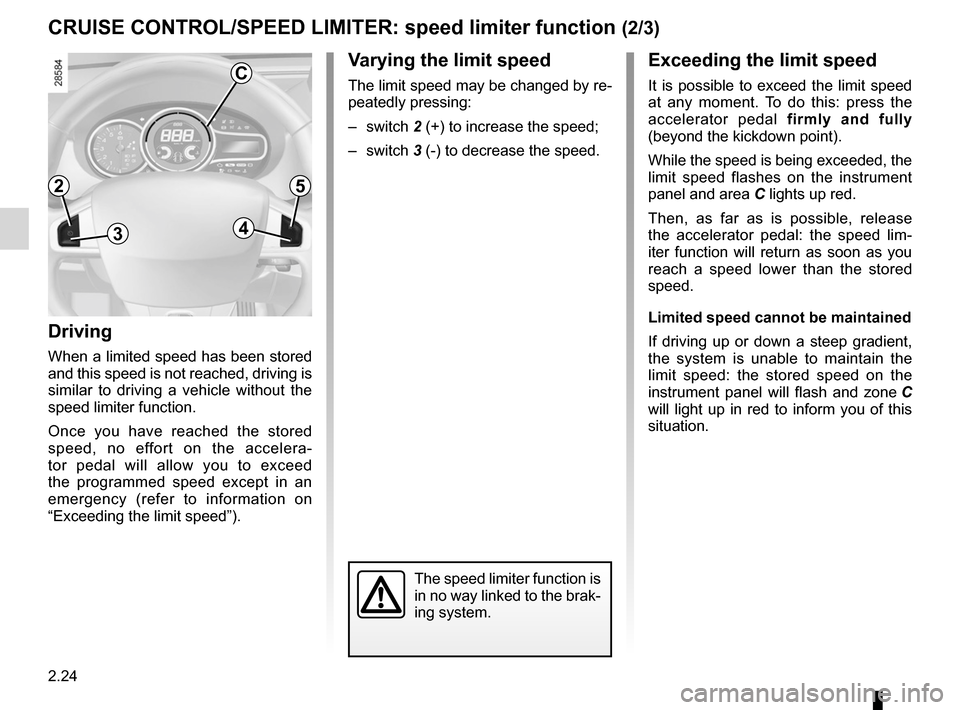 RENAULT MEGANE RS 2012 X95 / 3.G Owners Manual, Page 110