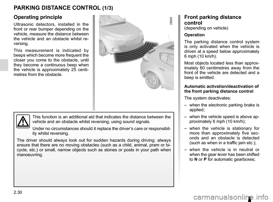 RENAULT MEGANE RS 2012 X95 / 3.G Owners Manual, Page 116