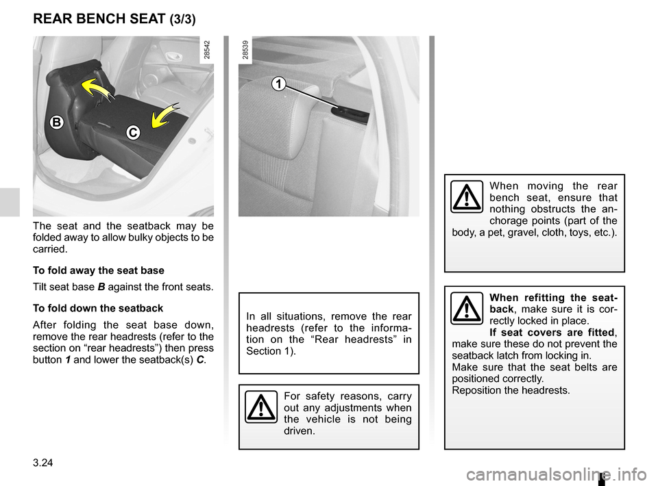 RENAULT MEGANE RS 2012 X95 / 3.G Owners Manual, Page 146
