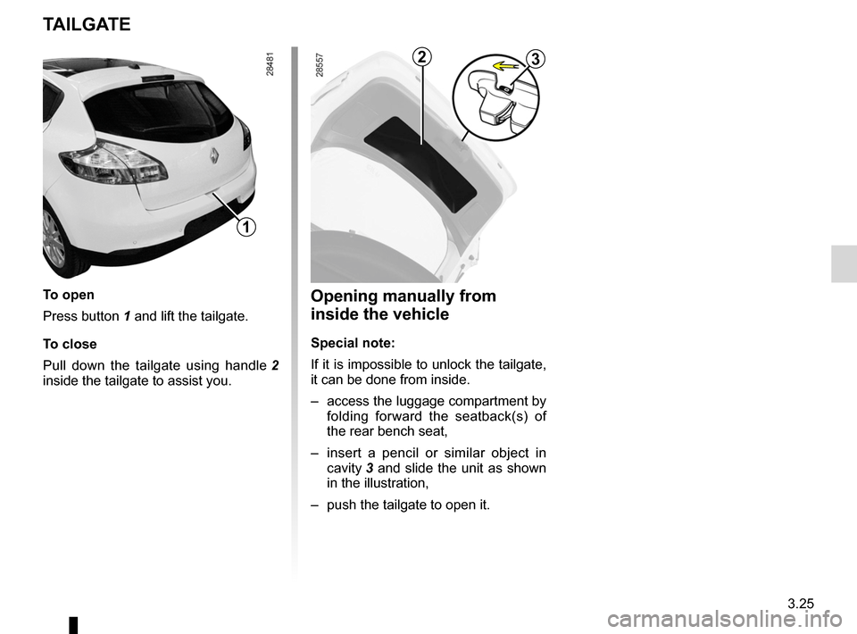 RENAULT MEGANE RS 2012 X95 / 3.G Owners Manual, Page 147