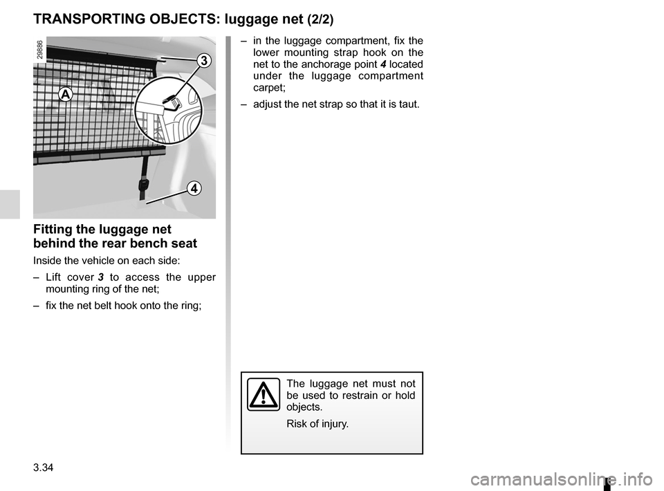 RENAULT MEGANE RS 2012 X95 / 3.G Owners Manual, Page 156