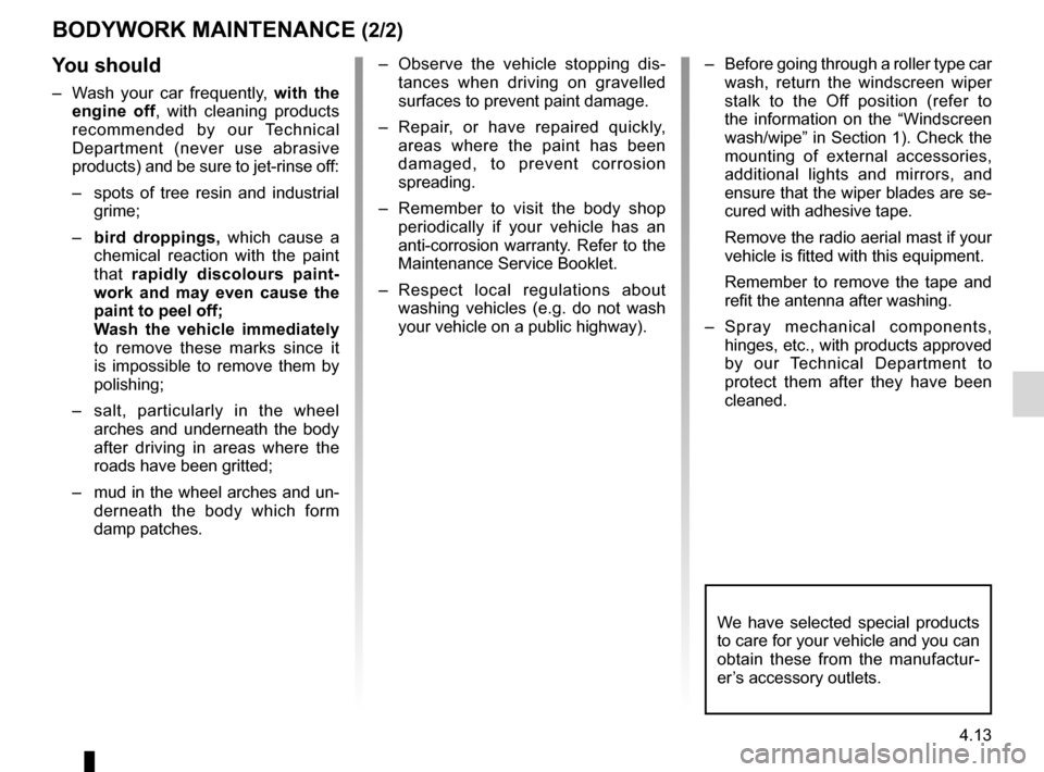 RENAULT MEGANE RS 2012 X95 / 3.G Owners Manual, Page 171