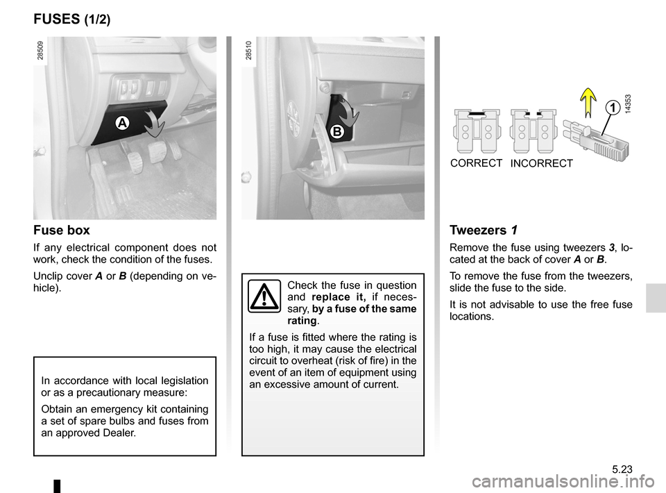 RENAULT MEGANE RS 2012 X95 / 3.G Owners Manual, Page 195