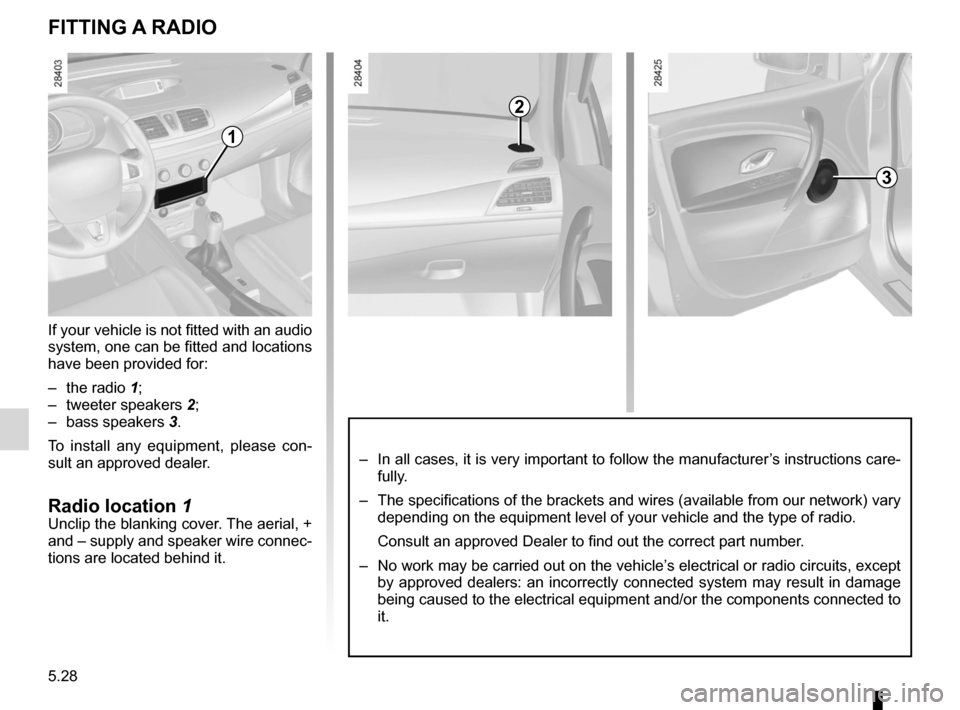 RENAULT MEGANE RS 2012 X95 / 3.G Owners Manual, Page 200