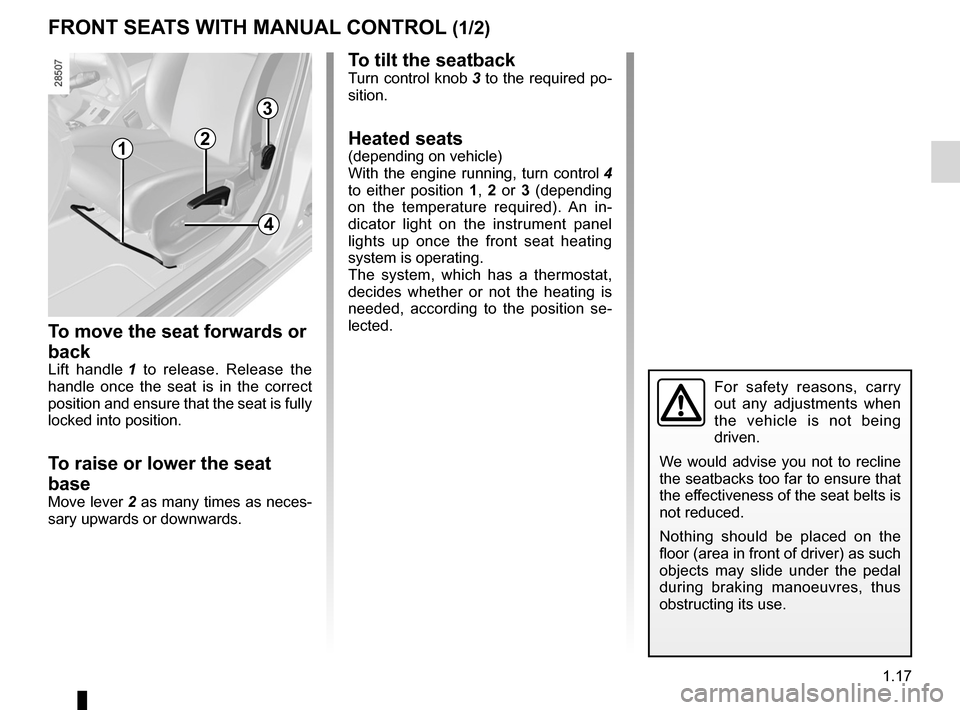 RENAULT MEGANE RS 2012 X95 / 3.G Owners Manual, Page 23