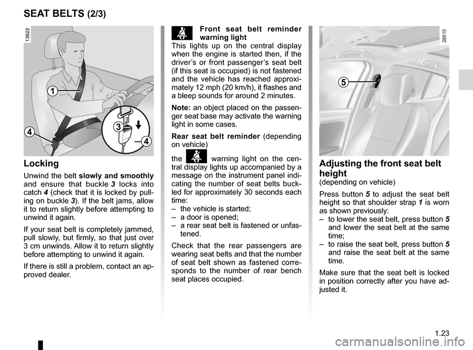 RENAULT MEGANE RS 2012 X95 / 3.G Owners Manual, Page 29