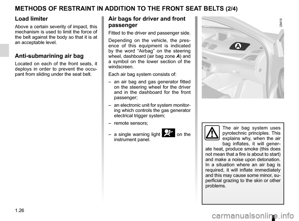 RENAULT MEGANE RS 2012 X95 / 3.G Owners Manual, Page 32