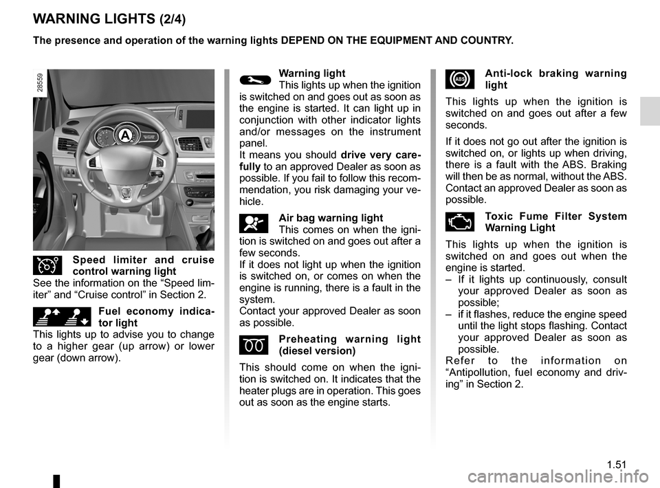 RENAULT MEGANE RS 2012 X95 / 3.G Owners Manual, Page 57