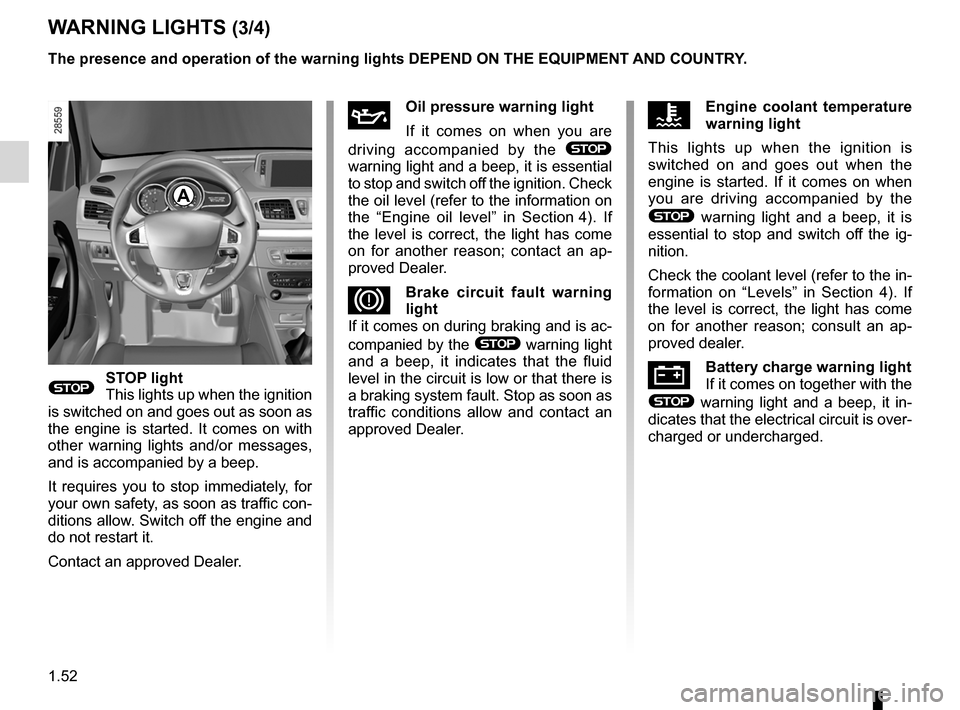 RENAULT MEGANE RS 2012 X95 / 3.G Owners Manual, Page 58
