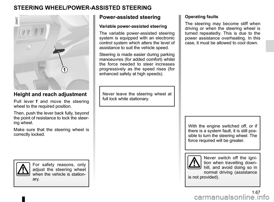 RENAULT MEGANE RS 2012 X95 / 3.G Manual PDF steering wheeladjustment  ...................................... (up to the end of the DU) power-assisted steering ........................(up to the end of the DU) power-assisted steering ...........