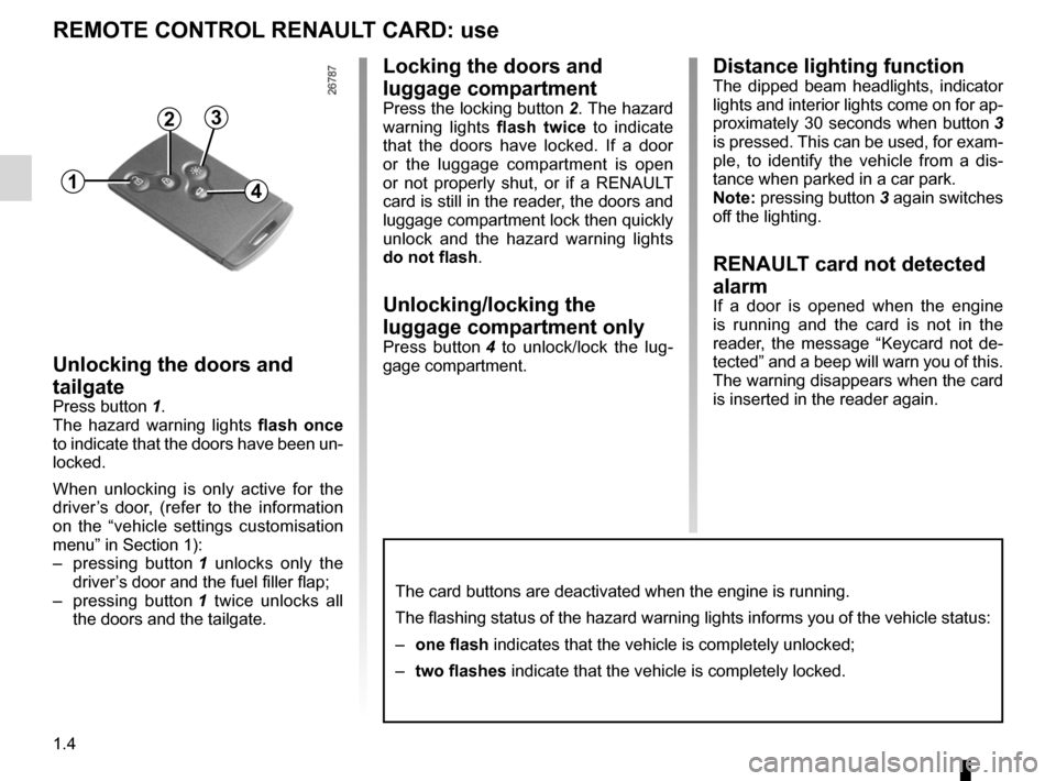 RENAULT MEGANE RS 2012 X95 / 3.G Owners Manual, Page 10