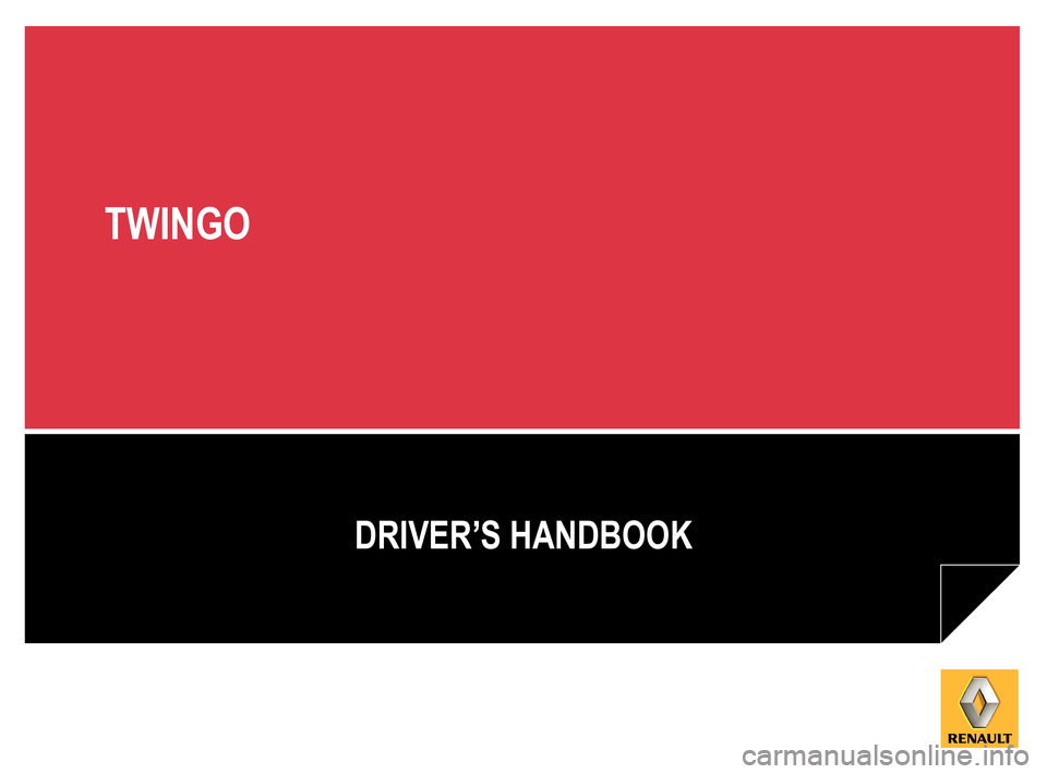 RENAULT TWINGO 2012 2.G Owners Manual, Page 1