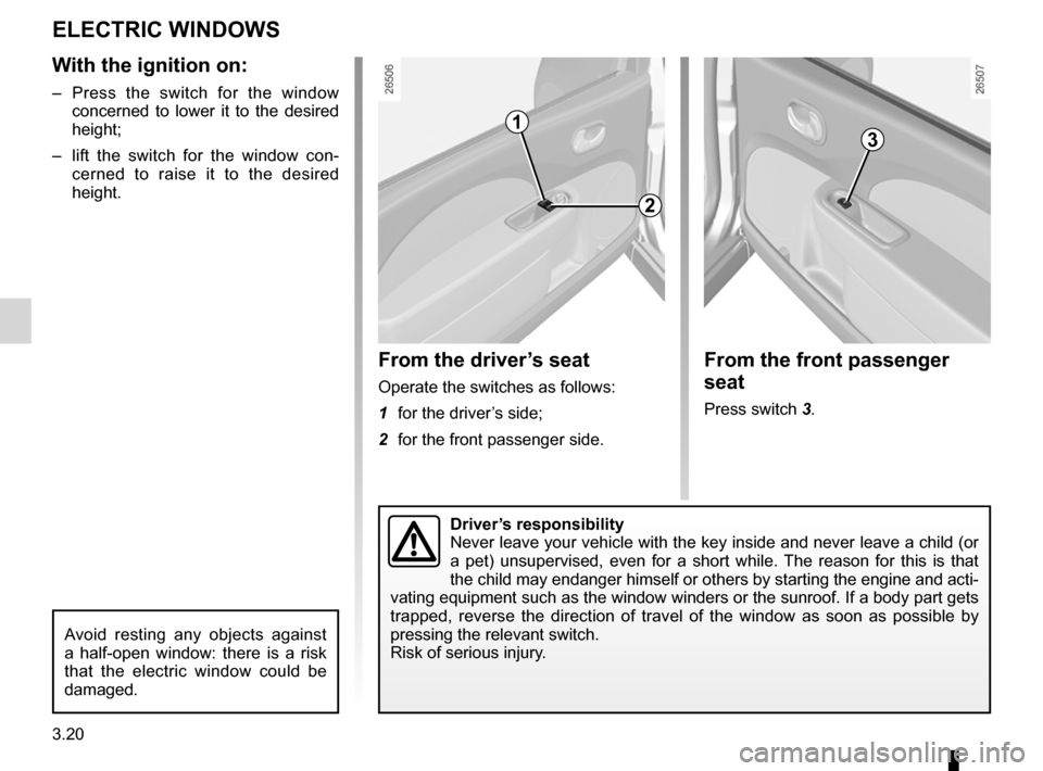 RENAULT TWINGO 2012 2.G Owners Manual, Page 118