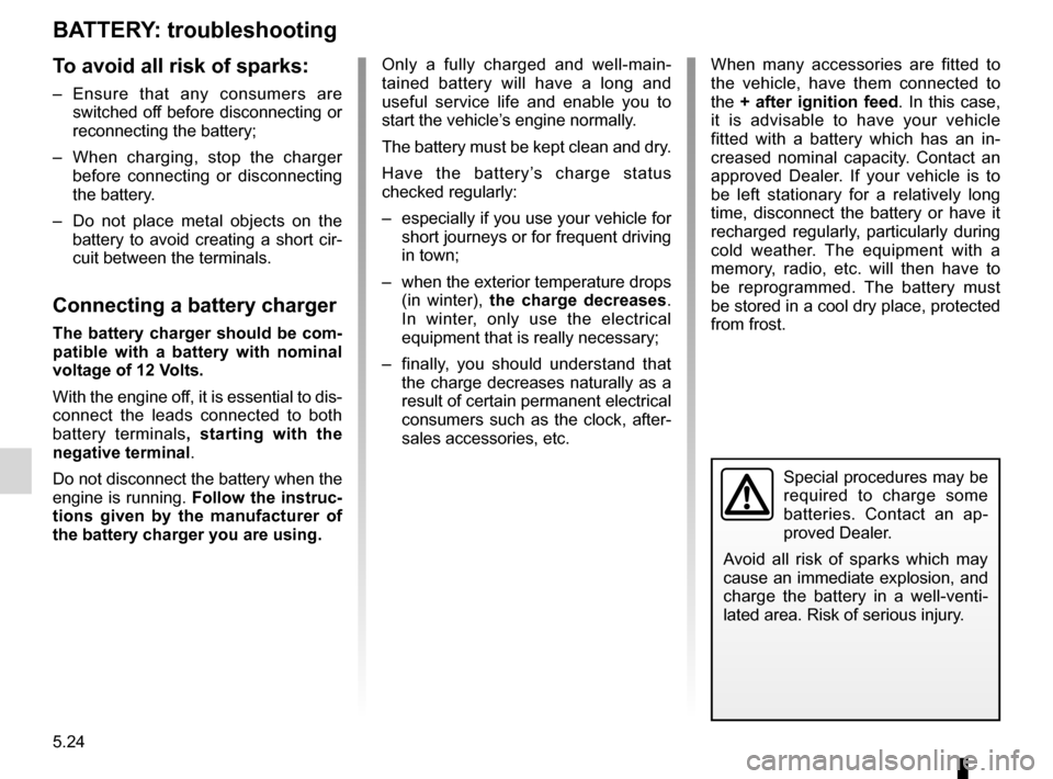 RENAULT TWINGO 2012 2.G Owners Manual, Page 178