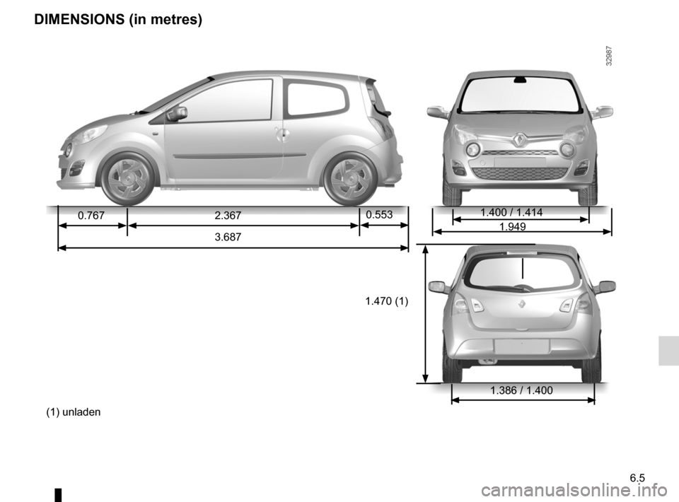 RENAULT TWINGO 2012 2.G Owners Manual, Page 199