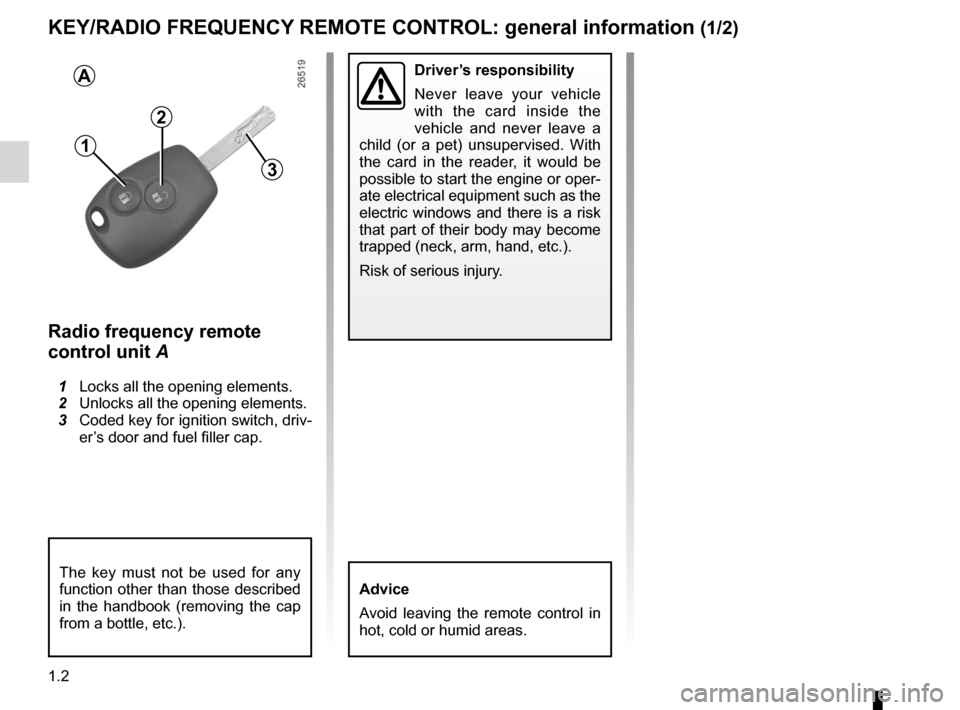 RENAULT TWINGO 2012 2.G Owners Manual, Page 8