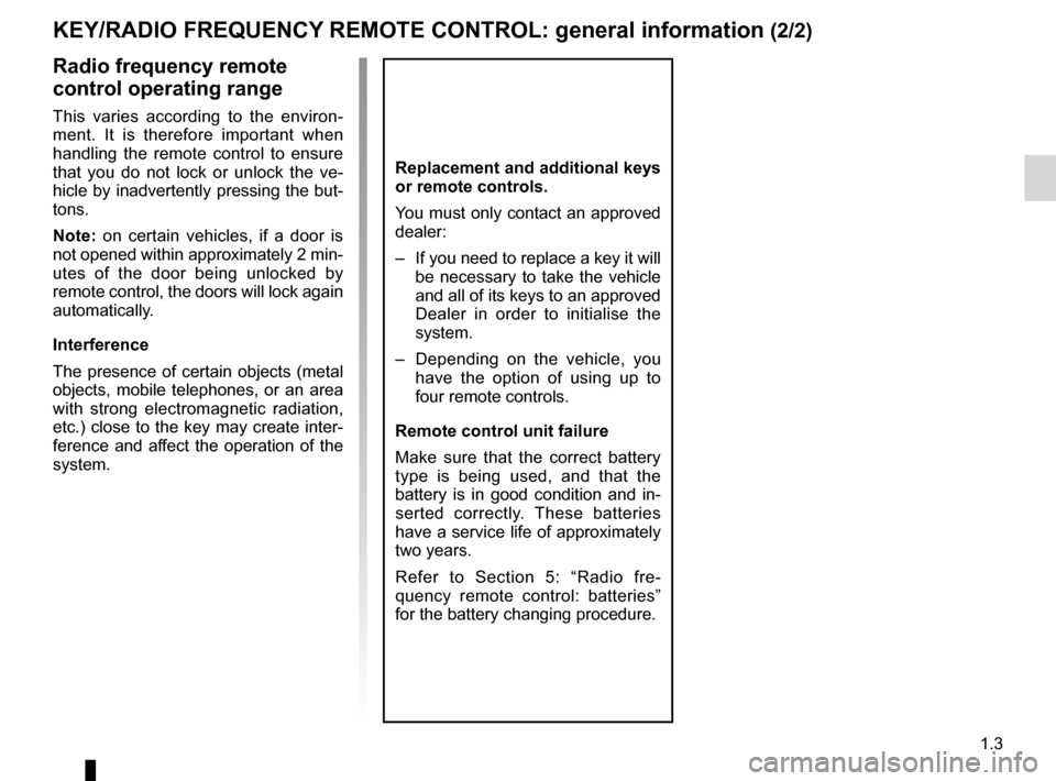 RENAULT TWINGO 2012 2.G Owners Manual, Page 9