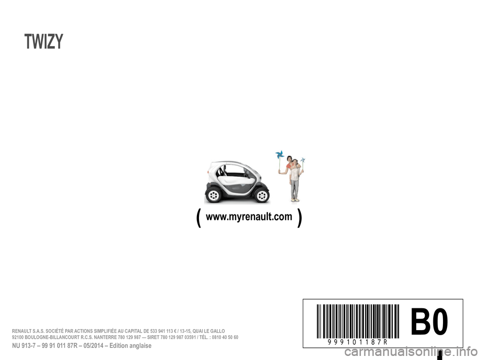 RENAULT TWIZY 2012 1.G Owners Manual, Page 118