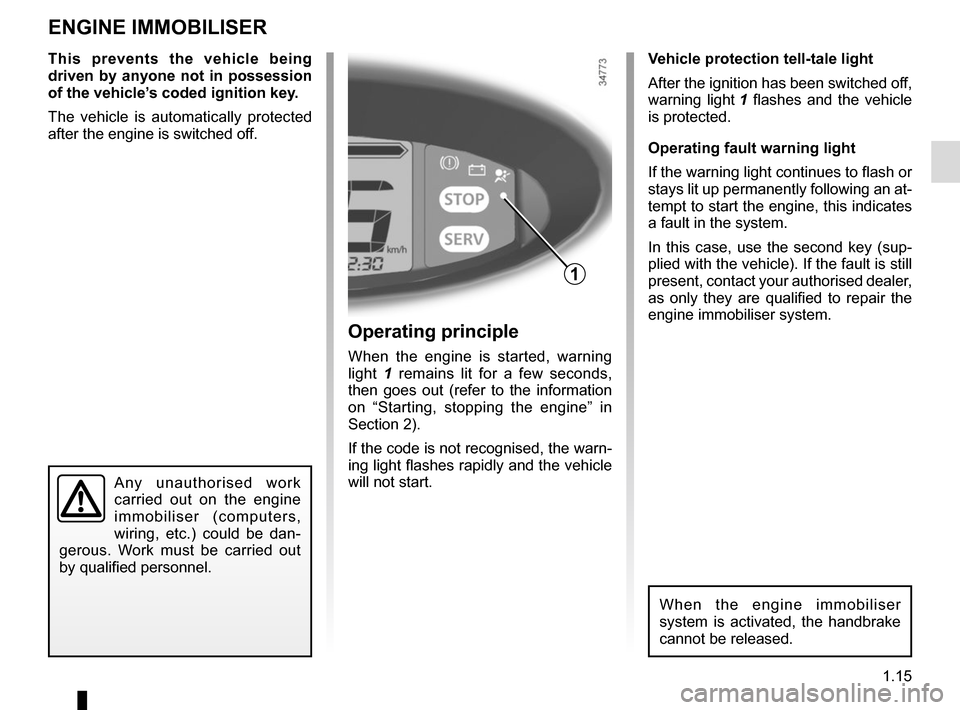 RENAULT TWIZY 2012 1.G Owners Manual, Page 21