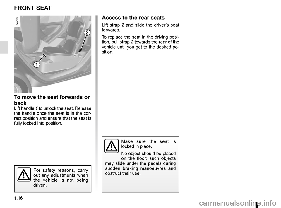 RENAULT TWIZY 2012 1.G Owners Manual, Page 22