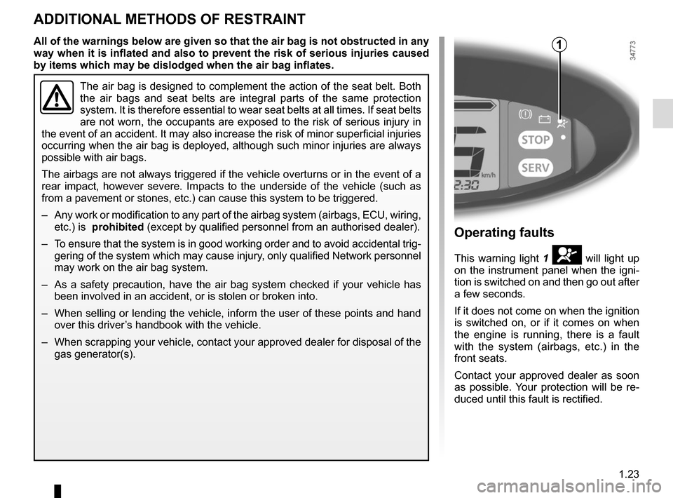 RENAULT TWIZY 2012 1.G Owners Manual, Page 29