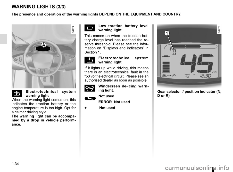 RENAULT TWIZY 2012 1.G Owners Manual, Page 40