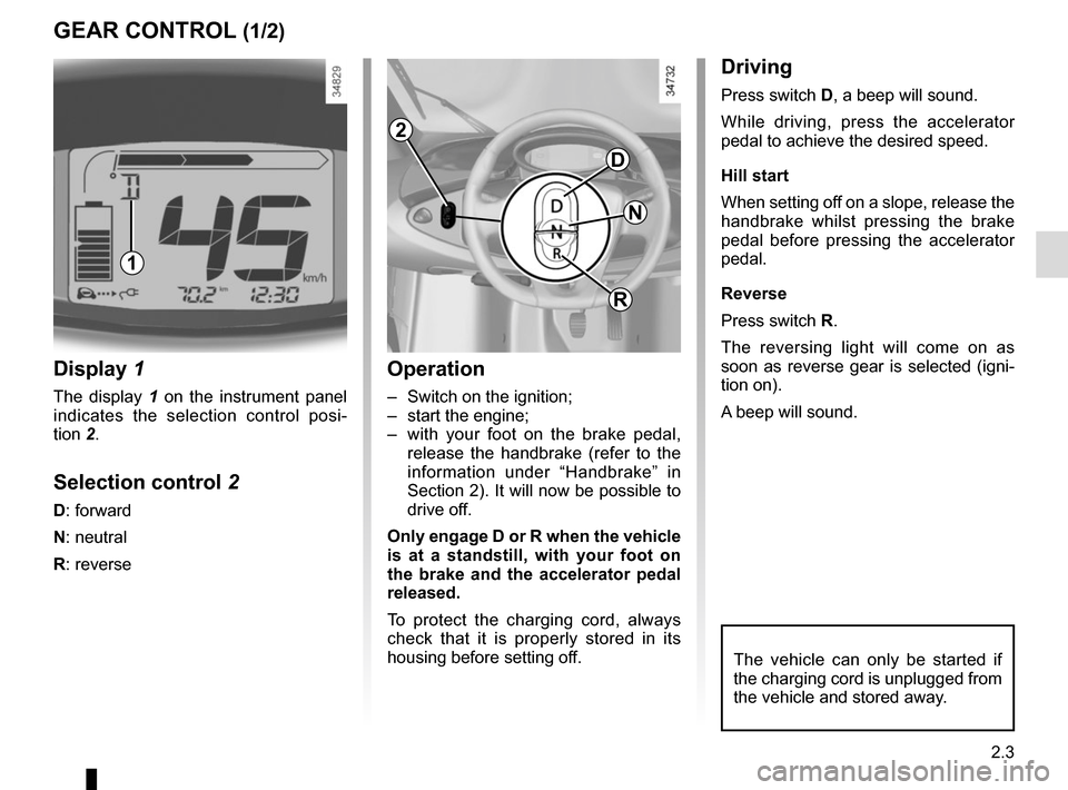 RENAULT TWIZY 2012 1.G Owners Manual, Page 51