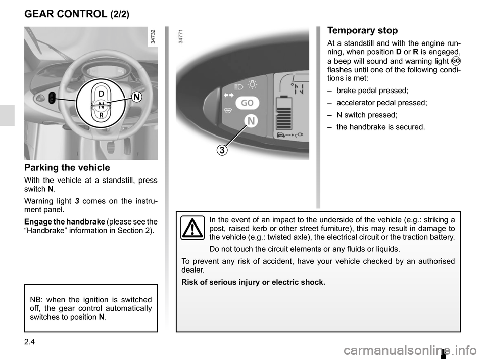 RENAULT TWIZY 2012 1.G Owners Manual, Page 52
